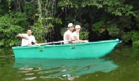 bote electrico y de remo tour ecologico entre las isletas