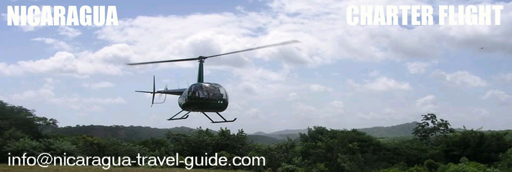nicaragua travel guide helicoptero local charter flight san juan del sur y centroamerica
