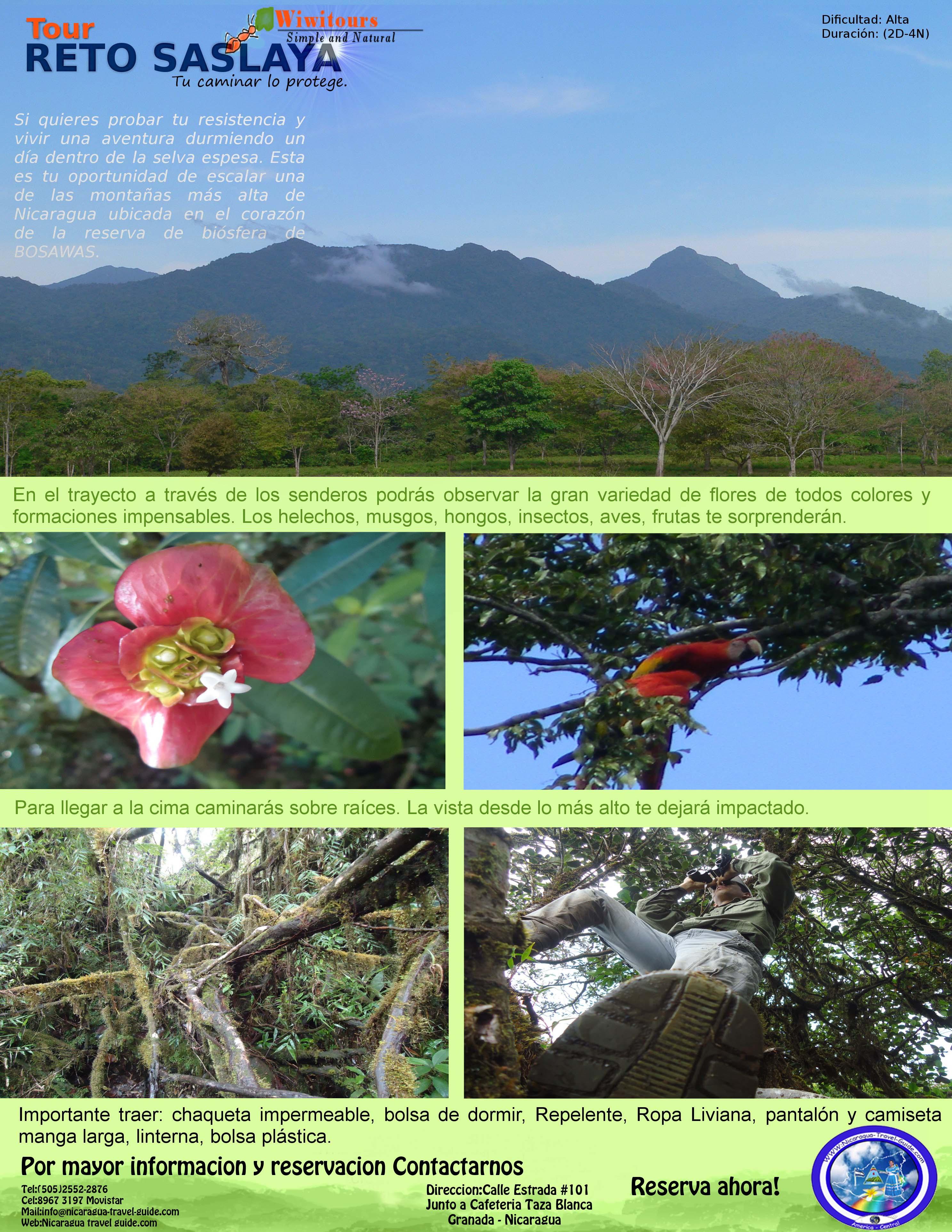 nicaragua travel guide region atlantico norte de nicaragua tour saslaya siuna zona minera