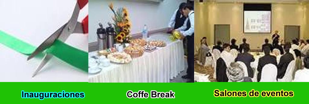 servicio catering evento inauguracion coffee break salones